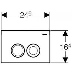 Geberit Delta21 - przycisk uruchamiający do spłuczek podtynkowych UP100