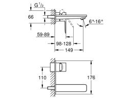 Grohe Lineare M - bateria umywalkowa ścienna podtynkowa - el. zewnętrzny