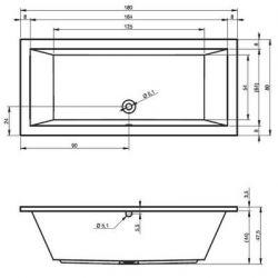 RIHO Lusso - wanna prostokątna 180 x 80 cm