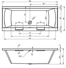 RIHO Modena - wanna prostokątna 180 x 80 cm