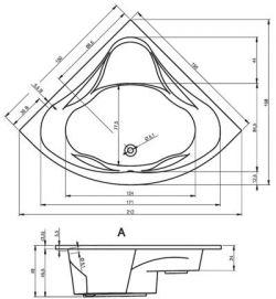 RIHO Neo - wanna narożna symetryczna 150 x 150 cm