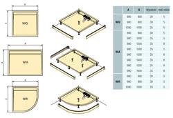 Sanswiss ILA WIA - brodzik prostokątny 80 x 90 cm, biały, pokrywa czarny mat