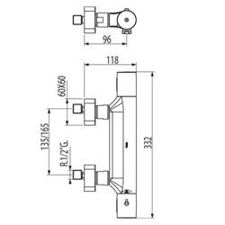 Tres Loft - bateria prysznicowa termostatyczna