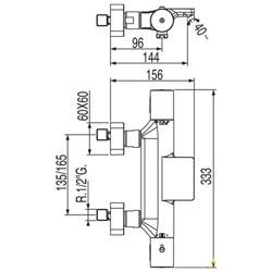 Tres Loft - bateria wannowa termostatyczna